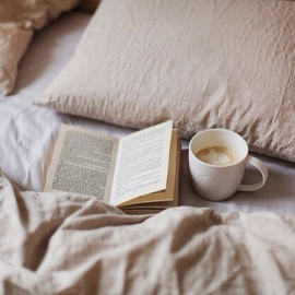 #coffee  #books  #bed